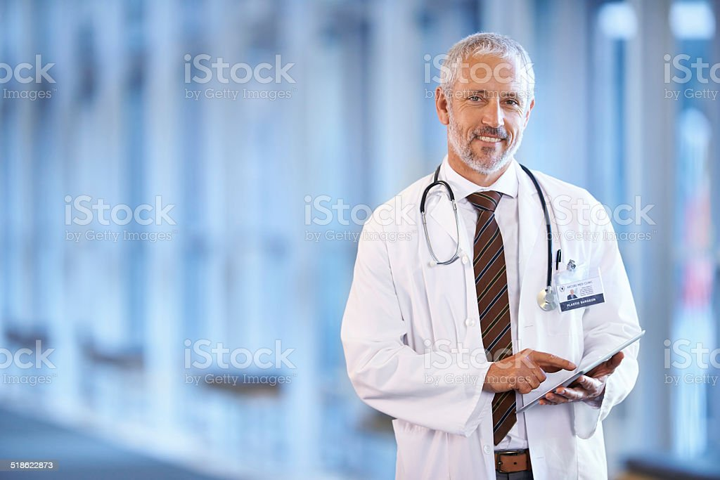 Being a doctor makes me happy stock photo