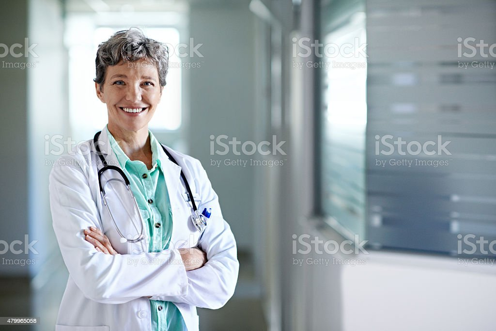 Being a doctor was my calling stock photo