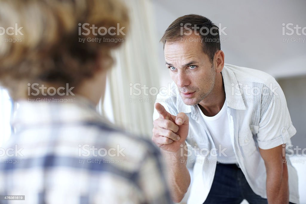 Being a father stock photo