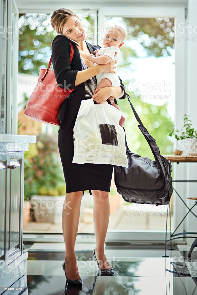 Being a mother is a full time job stock photo
