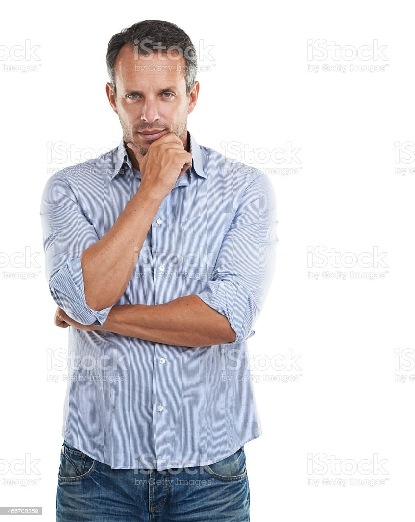 Being analytical is his greatest strength stock photo