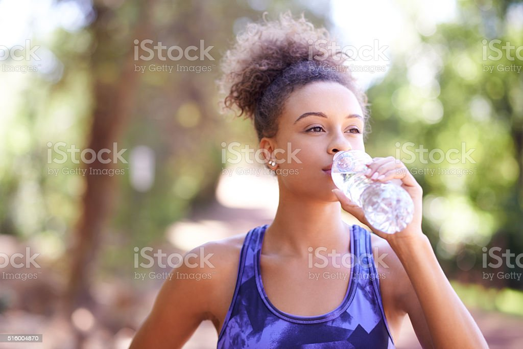 Being dehydrated can sap your energy stock photo