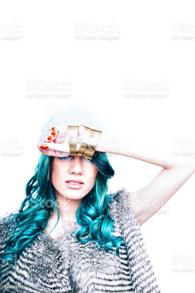 Being fashionable is hard stock photo