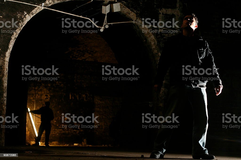 Being followed royalty-free stock photo