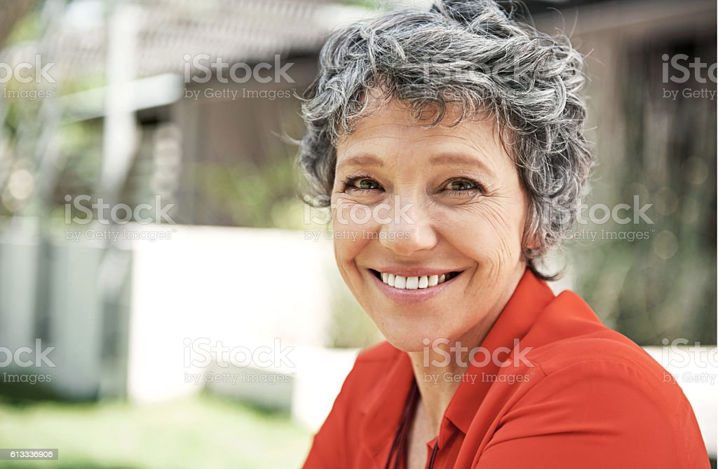 Being happy does you good stock photo