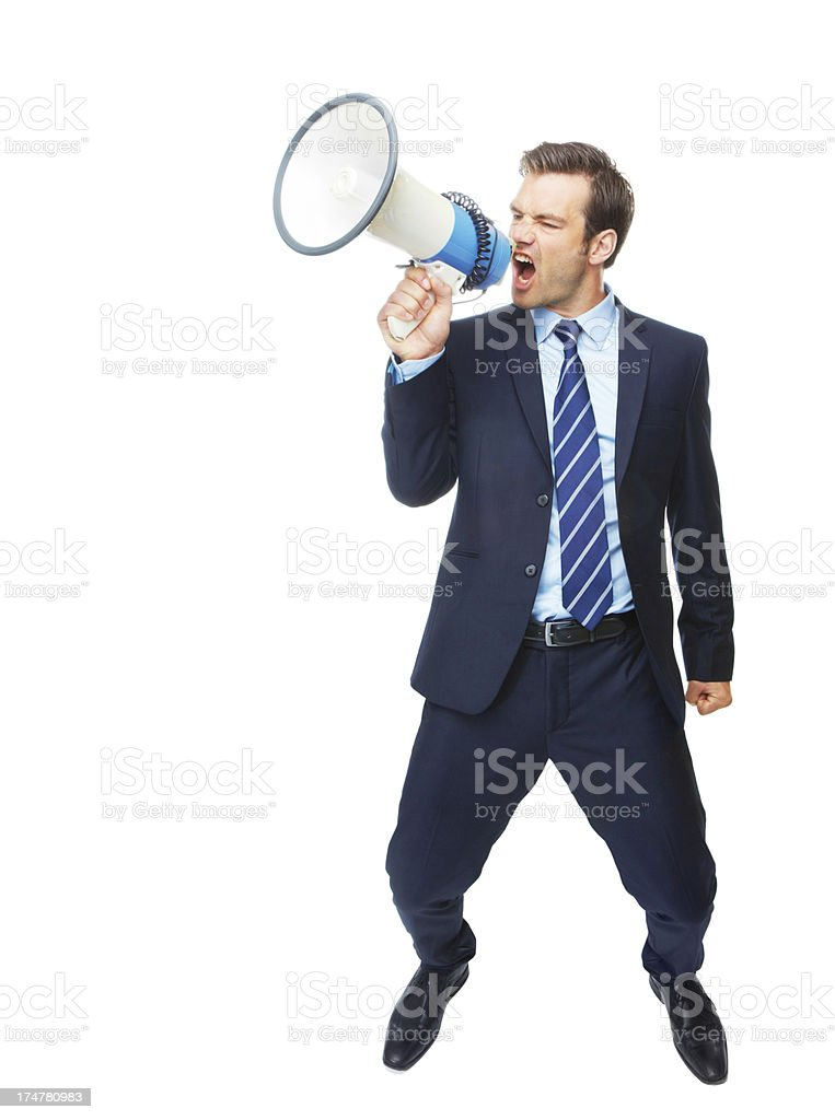 Being heard loud and clear royalty-free stock photo
