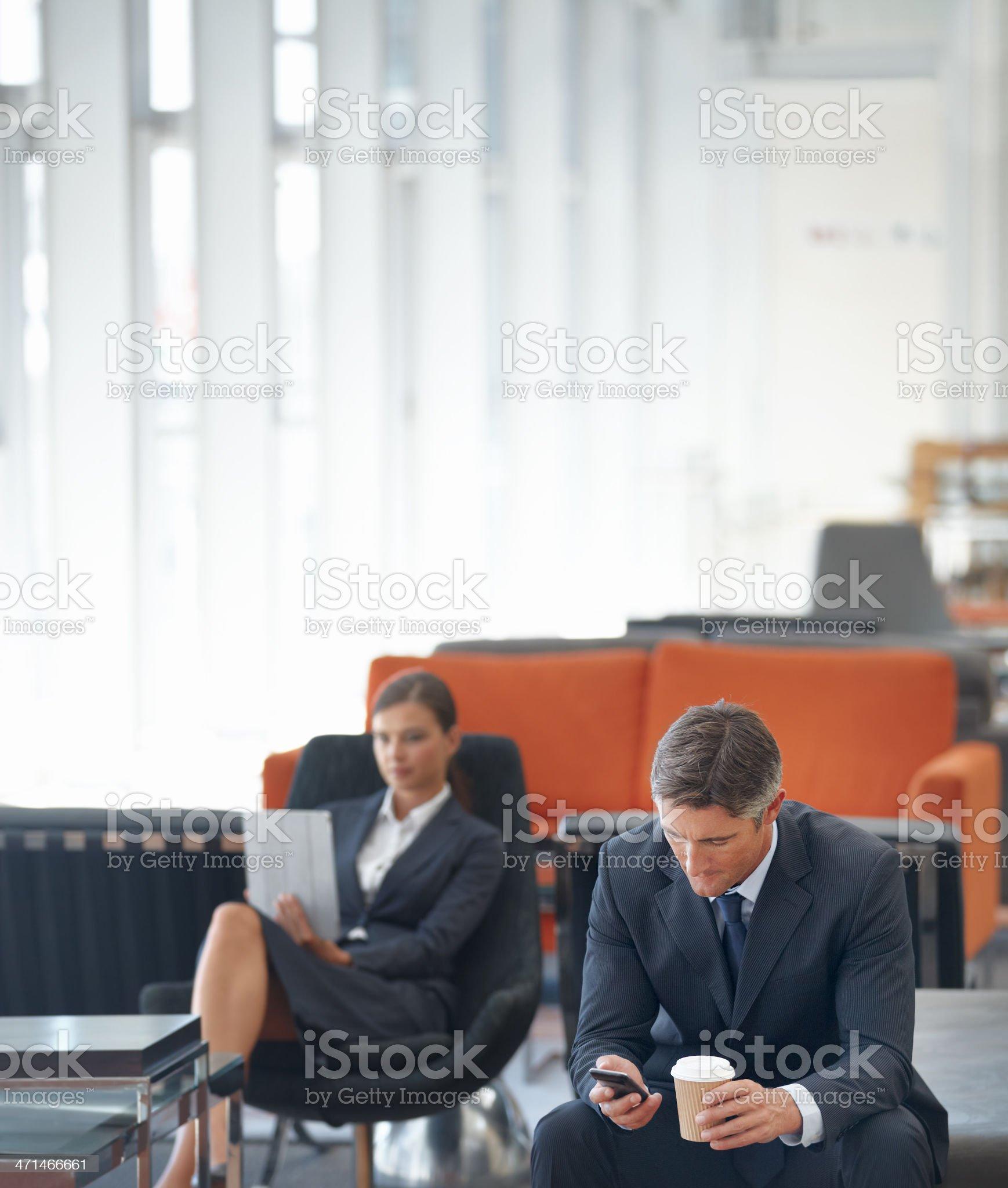 Being kept waiting royalty-free stock photo