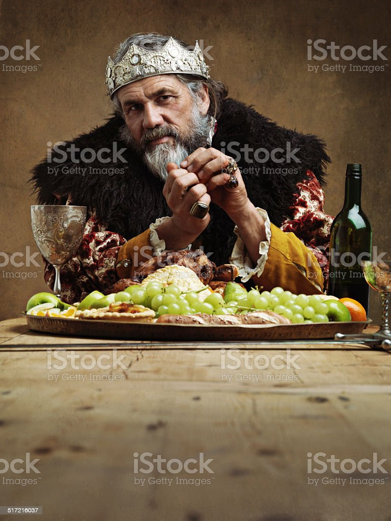 Being King has its perks stock photo