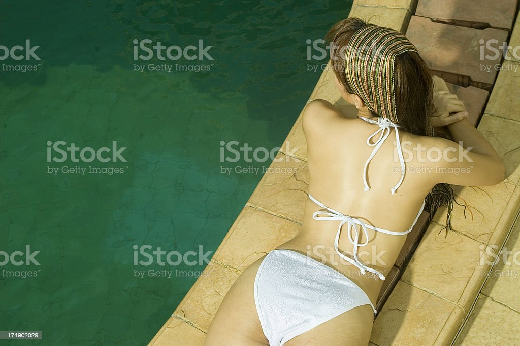 Being Lazy On The Poolside 04 royalty-free stock photo