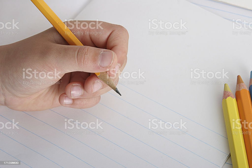 being left handed royalty-free stock photo