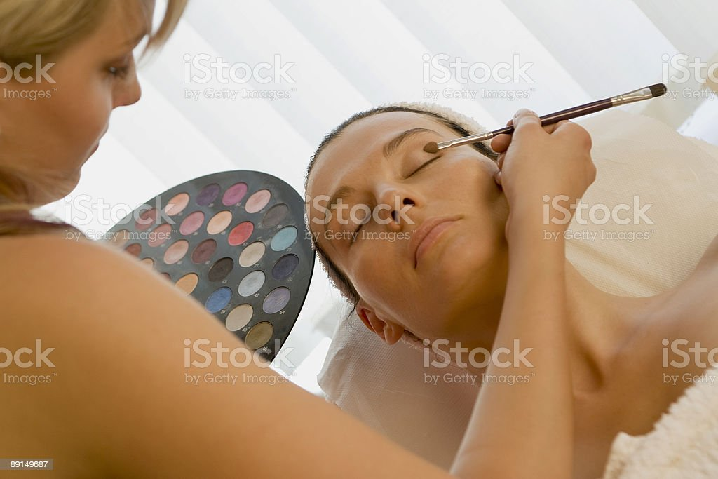 Being Made Up royalty-free stock photo