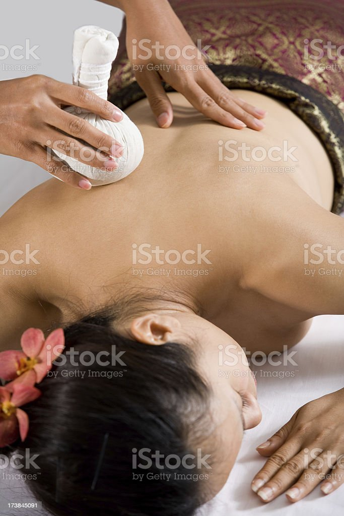 Being Massaged royalty-free stock photo