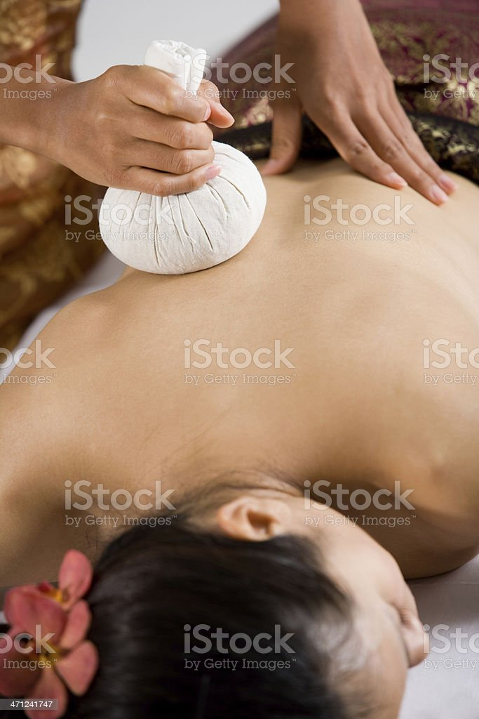 Being Massaged stock photo