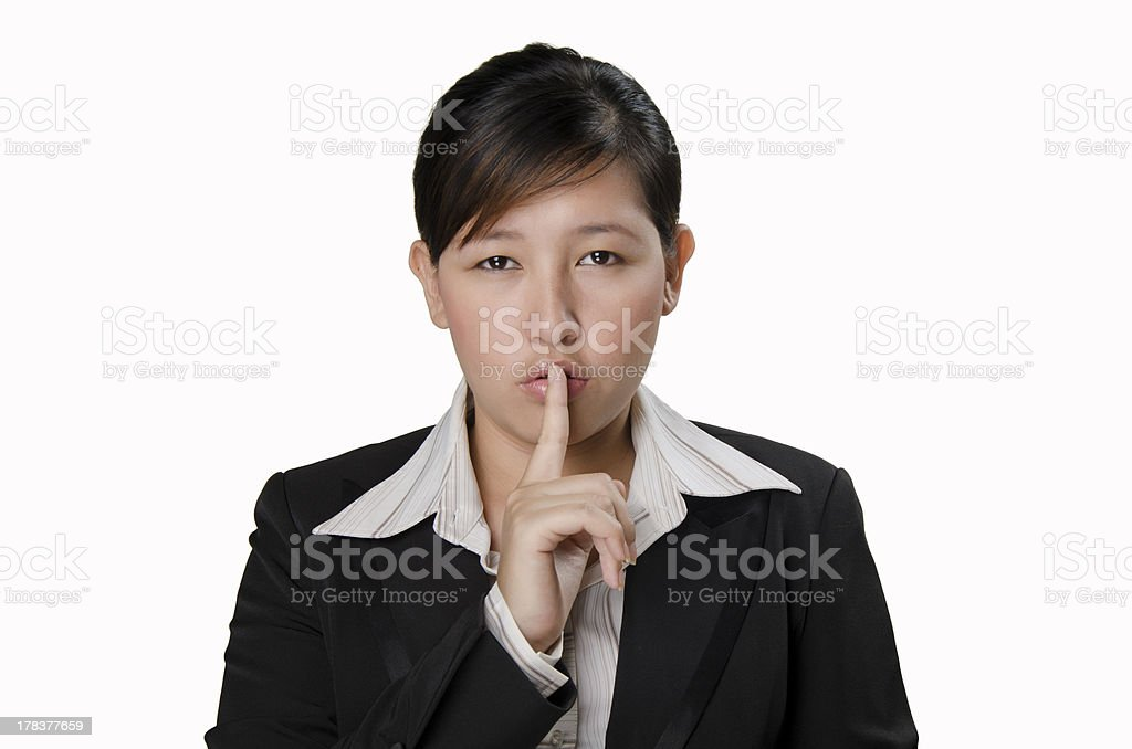 being quiet royalty-free stock photo