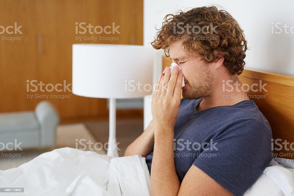 Being sick sucks stock photo