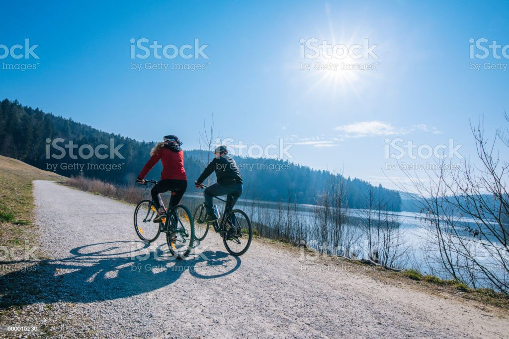 Being together in a nature is so relaxing stock photo