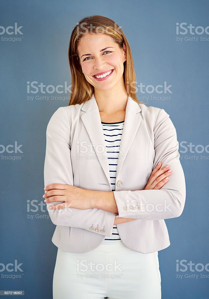 Being well-dressed is a beautiful form of politeness stock photo