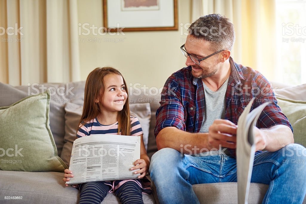 Being your parent is my favourite job stock photo