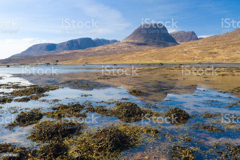 Beinn Bhan from Loch Kishorn royalty-free stock photo