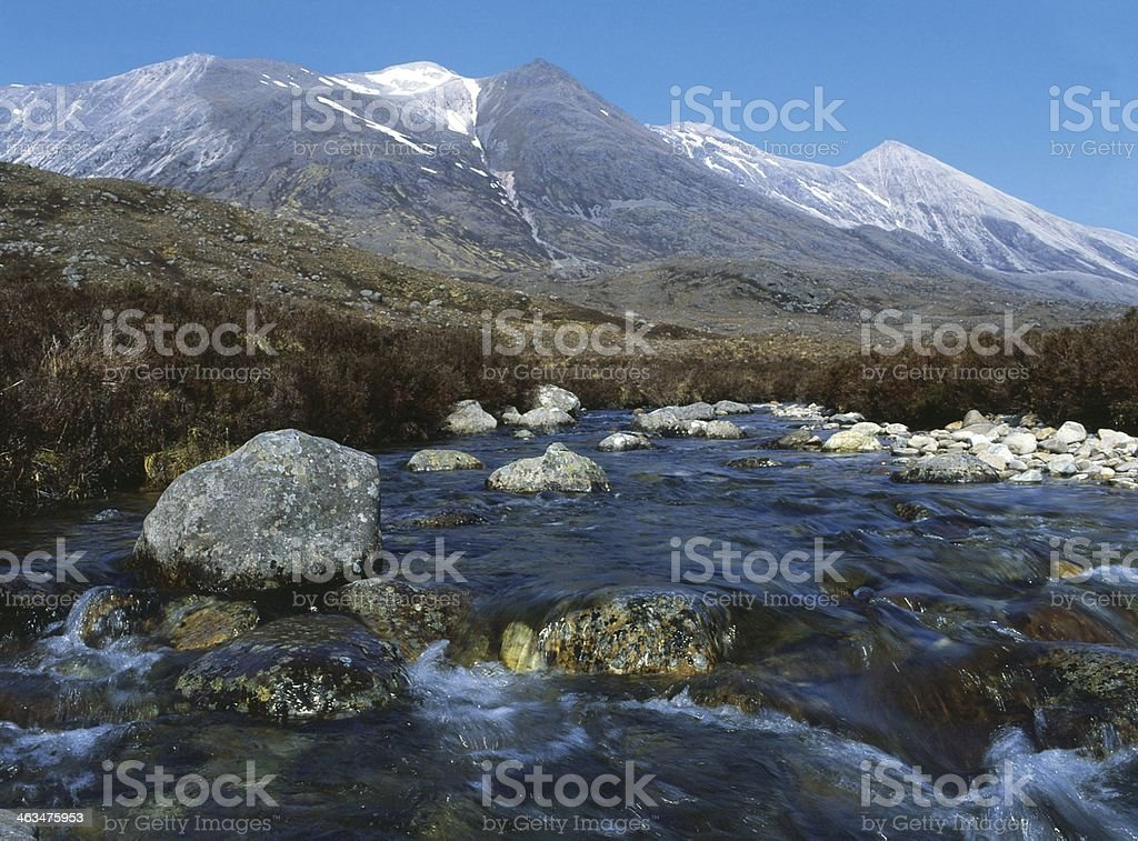 Beinn Eighe and River Torridon stock photo