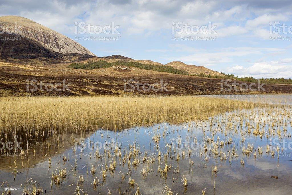 Beinn na Cailleach and Lochan Cill Chriosd, Isle of Skye royalty-free stock photo