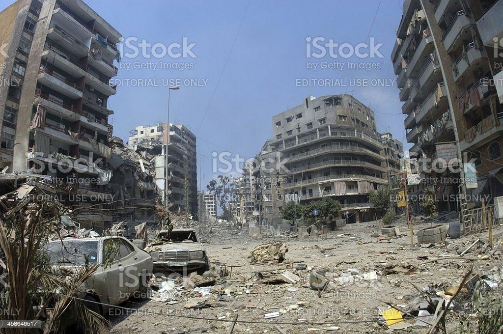 Beirut Bombed stock photo