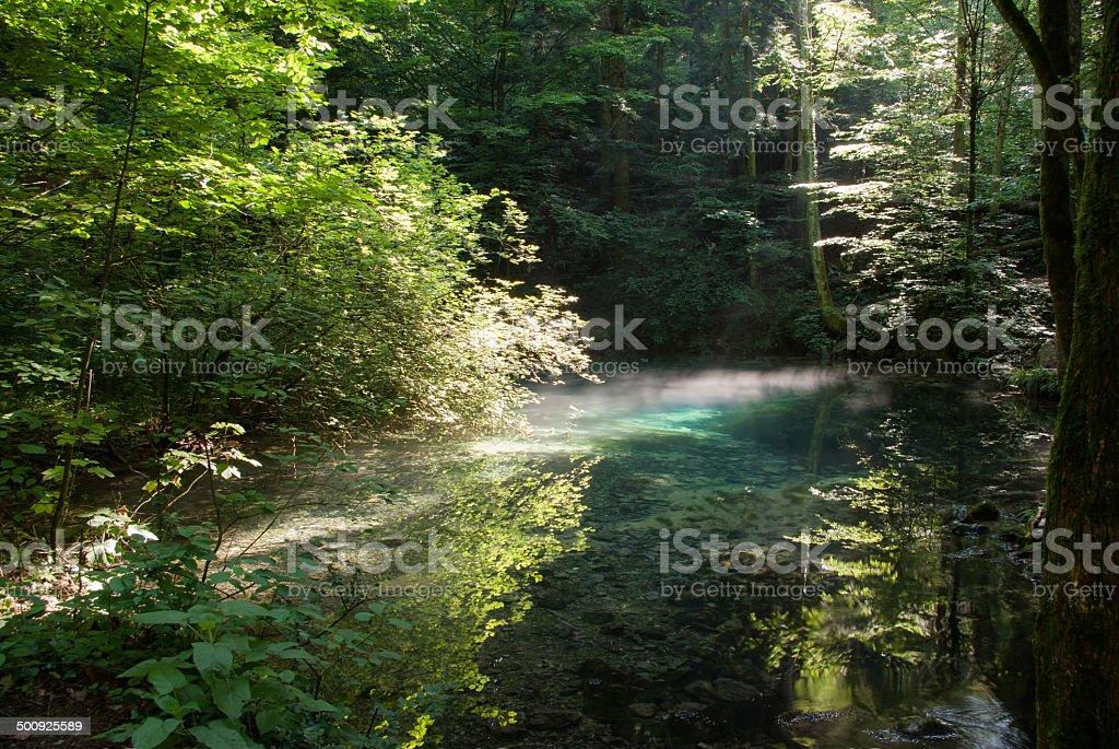 Beiului's eye lake – Ochiul Beiului stock photo