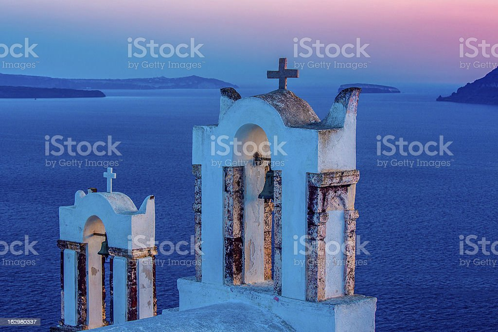 Bel tower, church, santorini royalty-free stock photo