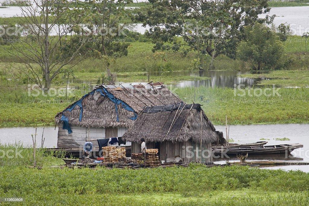 'BelAn Home on Amazon River, Peru' stock photo