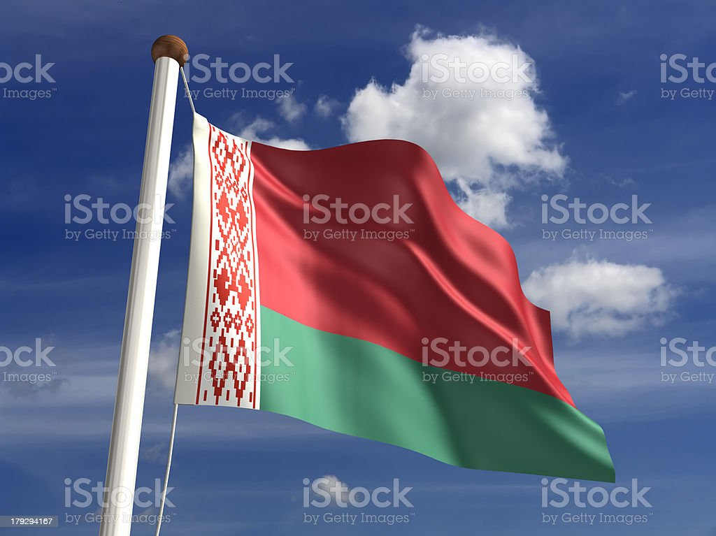 Belarus flag (with clipping path) royalty-free stock photo