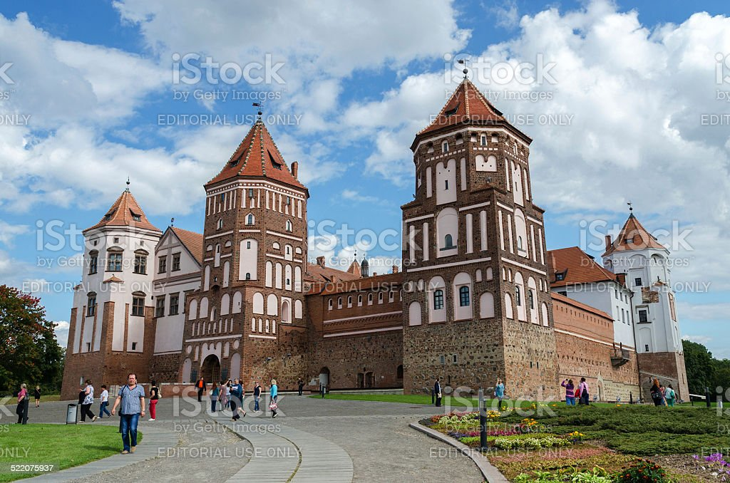 Belarus, Grodno region, Mir Castle Complex stock photo