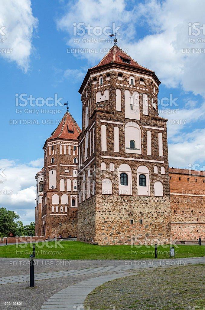 Belarus, Grodno region, Mir Castle stock photo