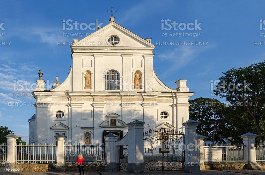 Belarus, Nesvizh, Corpus Christi Church stock photo