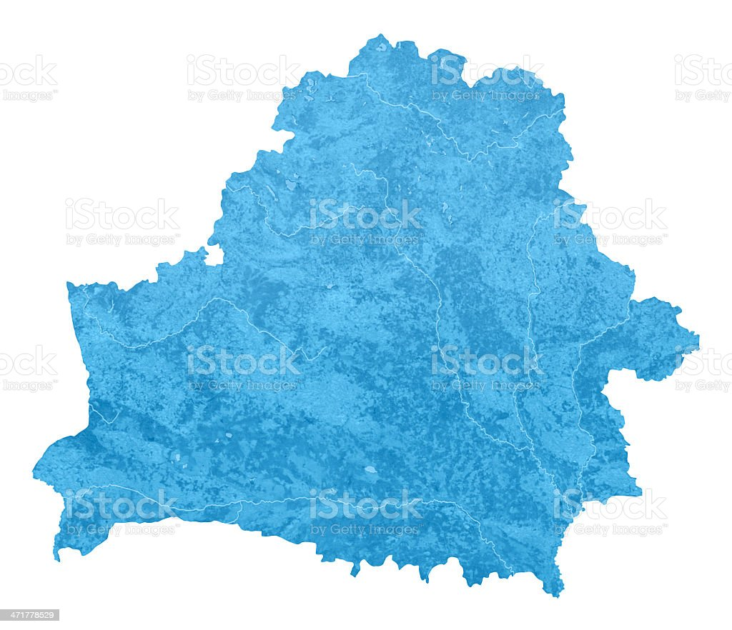 Belarus Topographic Map Isolated royalty-free stock photo