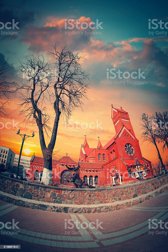 Belarussian Roman Catholic Church stock photo
