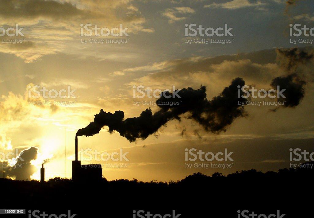 Belching smoke royalty-free stock photo
