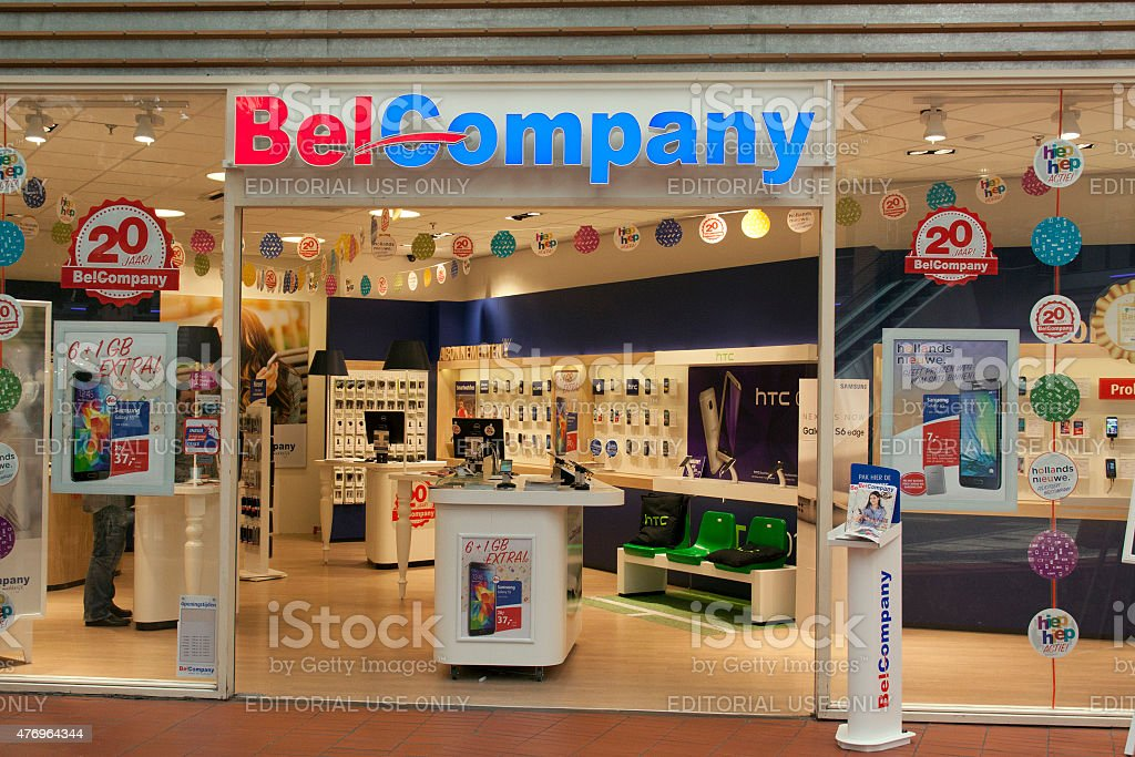 Belcompany store for mobile phones in The Hague stock photo