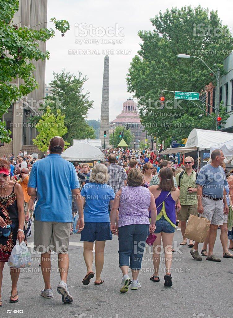 Bele Chere Festival In Asheville stock photo