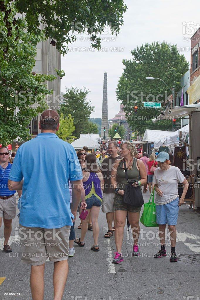 2013 Bele Chere Festival in Downtown Asheville stock photo
