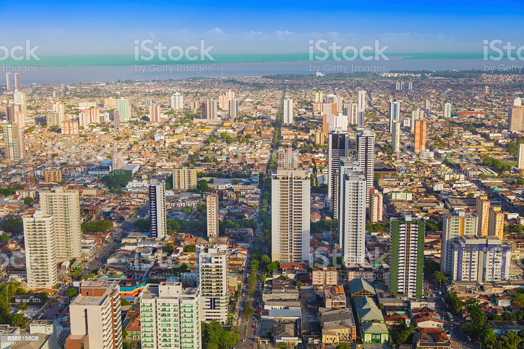 Belem city, in the Amazon stock photo