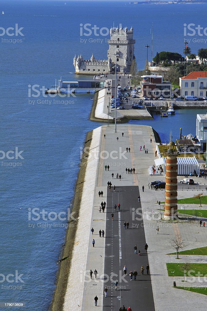 Belem tower from above royalty-free stock photo