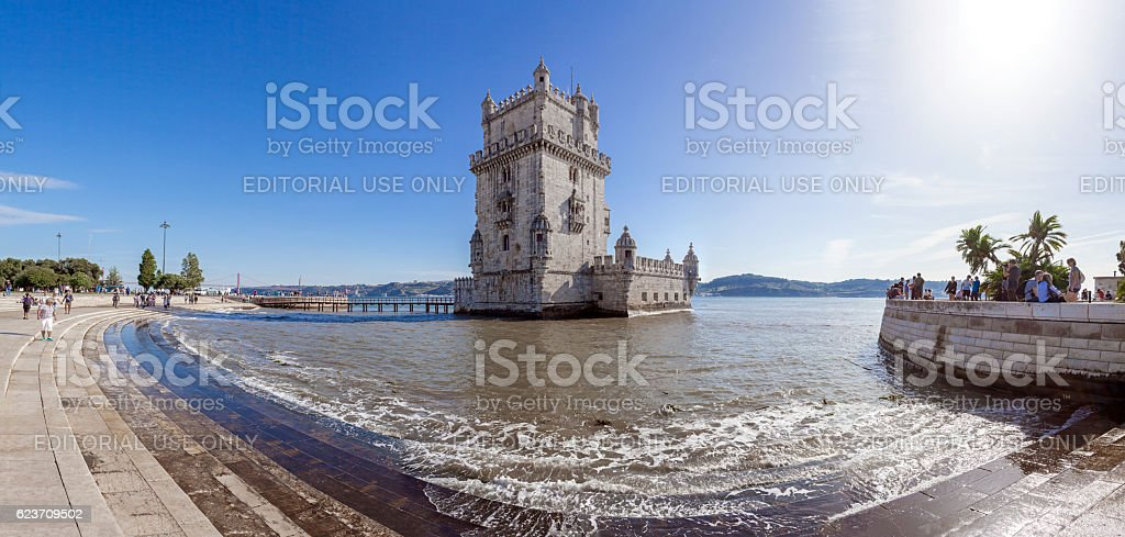 Belem Tower in Lisbon, Portugal. stock photo