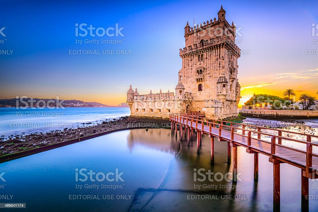 Belem Tower in Portugal stock photo