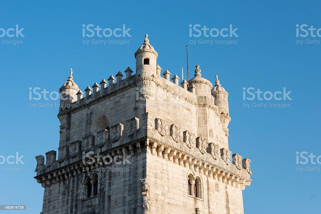 belem tower lisbon stock photo