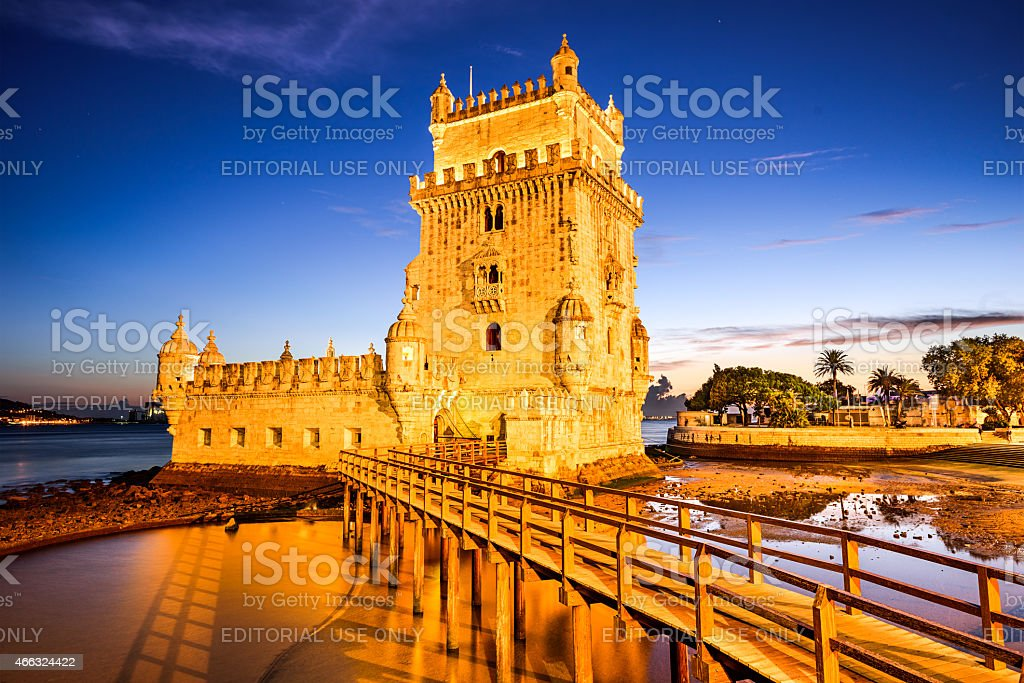 Belem Tower of Lisbon stock photo