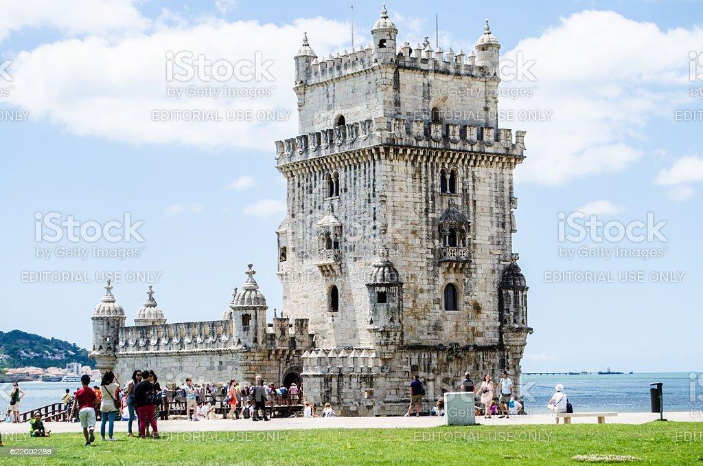 Belem Tower (horizontal) stock photo
