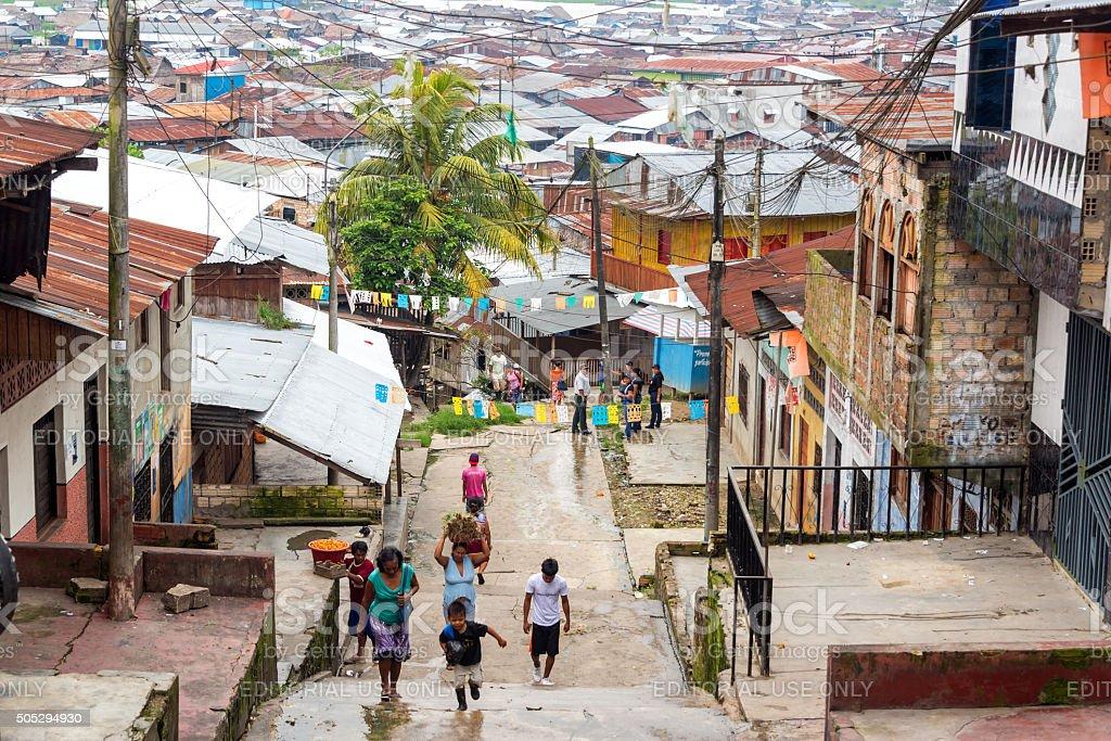 Belen Neighborhood in Iquitos, Peru stock photo