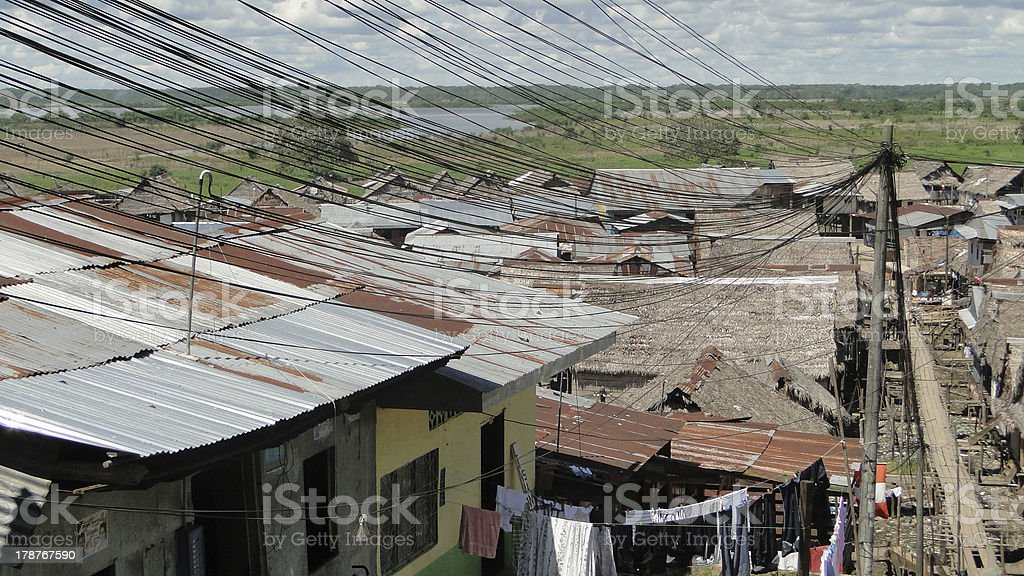 Belen, Poorest quarter of Peruvians Amazonas Iquitos, controlled by bandits stock photo