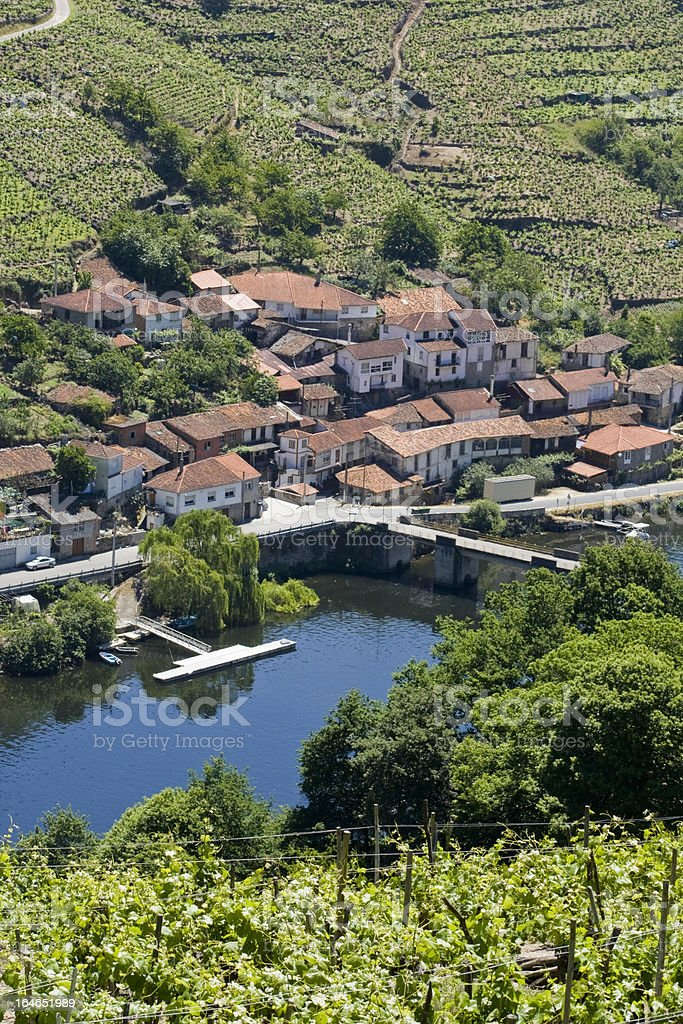 Belesar village, Galicia,Spain. royalty-free stock photo