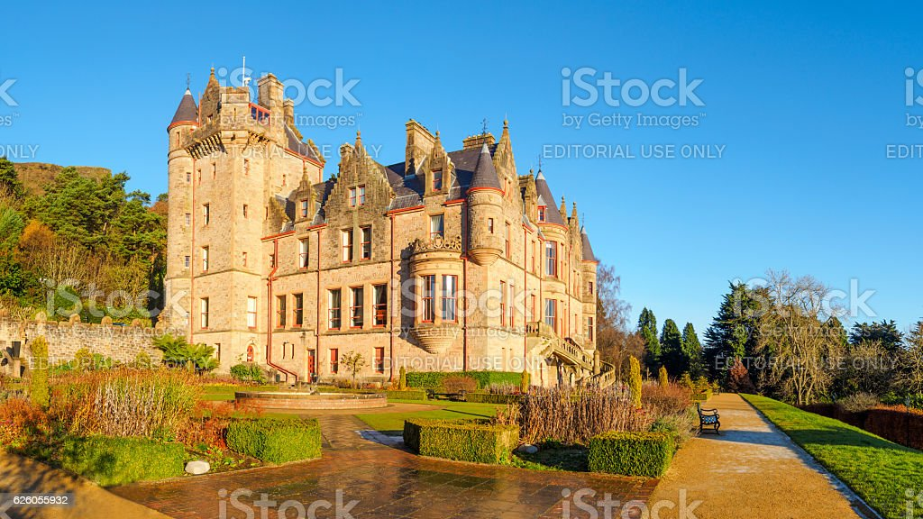 Belfast Castle, Northern Ireland stock photo